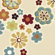 Stock Photo: Flower retro background
