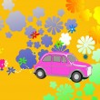 Flower Power hippie car fantasy — Stock Photo #2458240