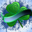 Green clover with banner — Foto de Stock