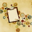 Grungy stained clipboard — Stock Photo