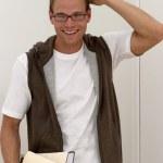 Happy male student — Stock Photo #2556352