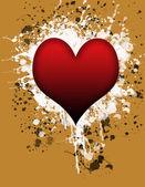 Heart splash — Stock Photo