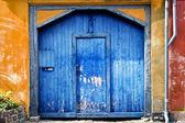 Colourful garage door — Stock Photo