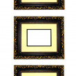 Picture frames on row — Stockfoto