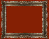 Empty picture frame, gold antique — Stock Photo