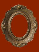 Picture frame. gold antique — Stock Photo