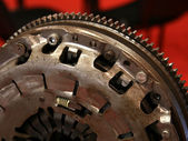 Clutch part ready for gearbox — Stock Photo