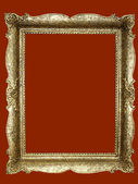 Empty golden picture frame — Stock Photo