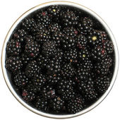 Blackberry in a dish — Stock Photo