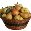 Pears in the basket isolated — Stock Photo