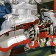 Turbo-compressor dwarsdoorsnede — Stockfoto