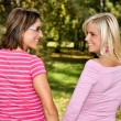 Two girls smiling — Stock Photo #2456212