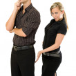 Businesswoman touch her boss — Stock Photo #2456566