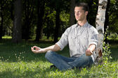 After-work meditation — Stock Photo