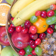 Punnet with fruits - Stock Photo