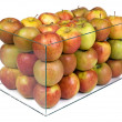 Apples in a glass boxu — Stock Photo