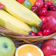 Punnet with fruits — Stock Photo