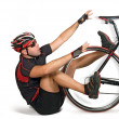 Fall from bicycle — Stock Photo