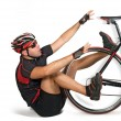 Fall from bicycle — Stock Photo #2556231