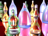 Gaudy Bottles — Stock Photo
