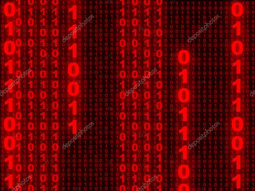 Red Binary Code Wallpaper
