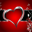 A red hearts Valentines Day Background — Imagens vectoriais em stock