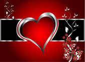 červené srdce valentýn pozadí — Stock vektor