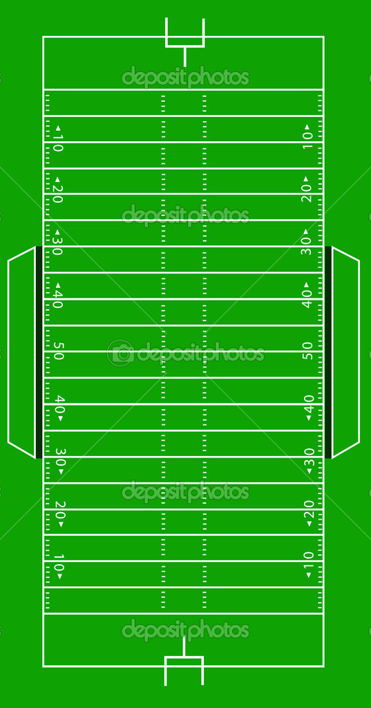 Scale Vector Illustration of an Amemerican football field — Stock Vector #2281525