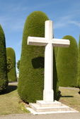 Big Cross in Punta arenas cemetery, chil — Stock Photo