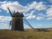 Old mill in the field — Stock Photo