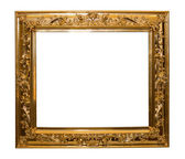 Shinny golden frame isolated — Stock Photo