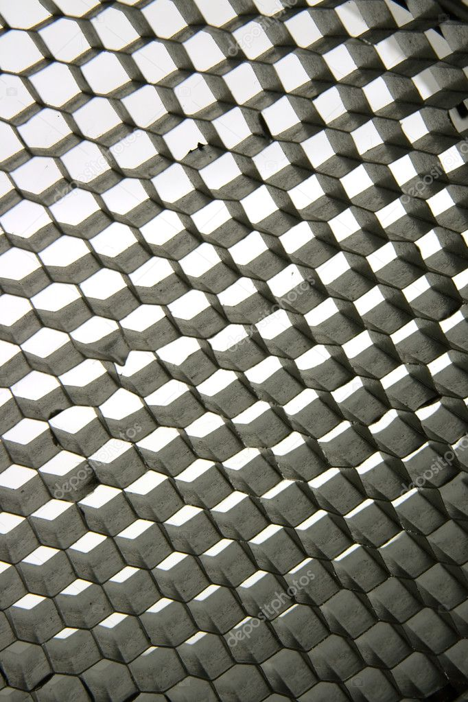 Extreme close-up metal honeycomb texture  Stock Photo #2481470