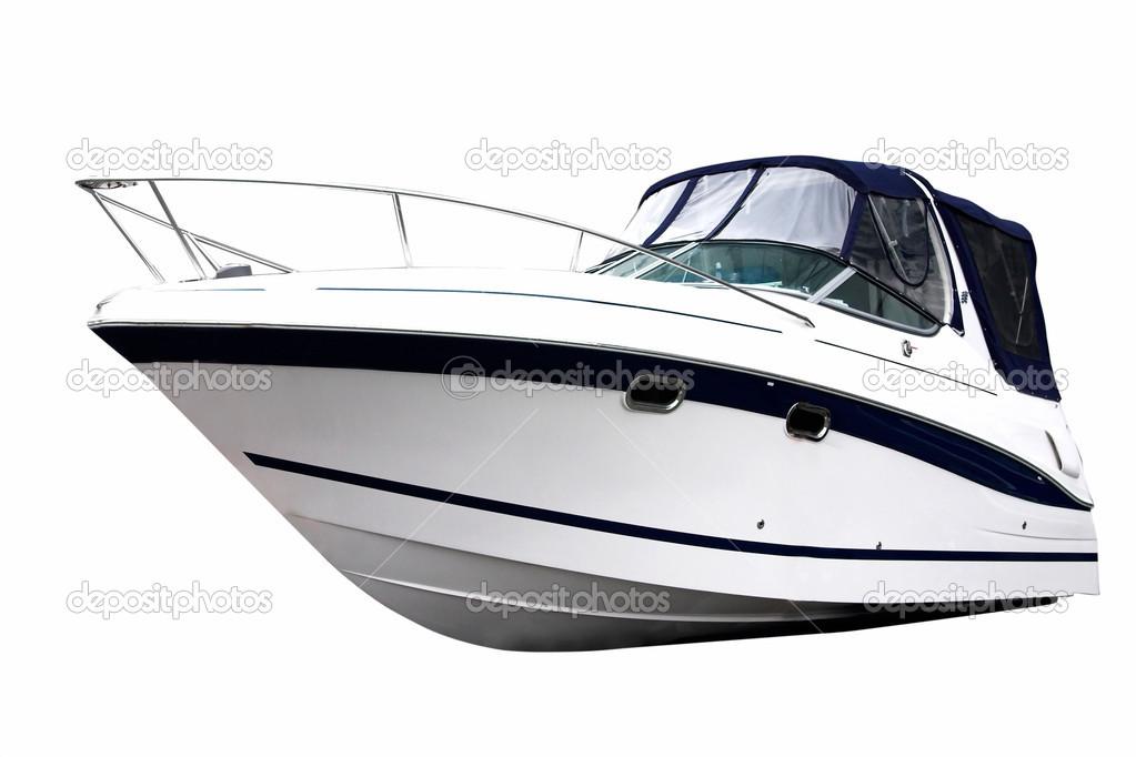 Power boat isolated on white background — Stock Photo #2481684