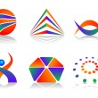 Vector Abstract Logo Icon Design Set — Stock Vector