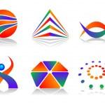 Vector Abstract Logo Icon Design Set — Stock Vector