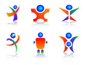 Human Logo Design Elements — Stock Vector