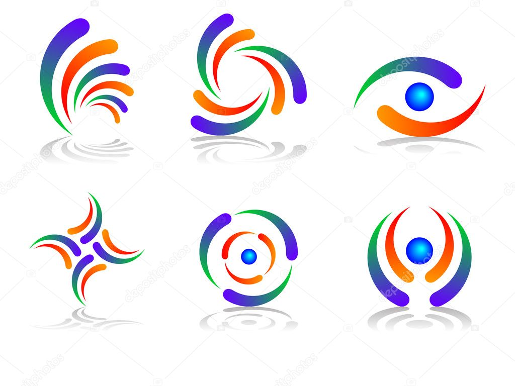 Colourful and Abstract Logo Design Set — Stock Vector #2327786