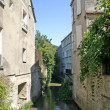 Stream in French Town - Stock Photo