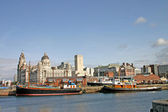 Liverpool Ships in Dock — Stock Photo