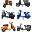 Vintage Scooters - Stock Photo