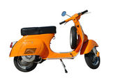 Vintage orange scooter — Stock Photo