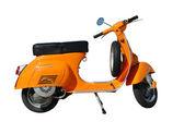 Vintage orange scooter — Stock Photo
