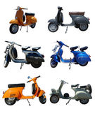 Vintage Scooters — Stock Photo