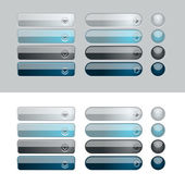 Shiny web buttons — Stock Vector