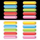 Web Plastic Button Set — Stock Vector