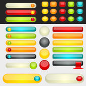 Shinny Colorful Web Buttons — Stock Vector