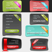 Web cajas set — Vector de stock