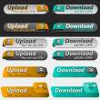 Upload and Download Button Set — Stock Vector