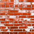 Red grungy brick wall — Stock Photo