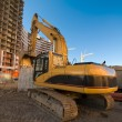 Stock Photo: Excavator at the construction place